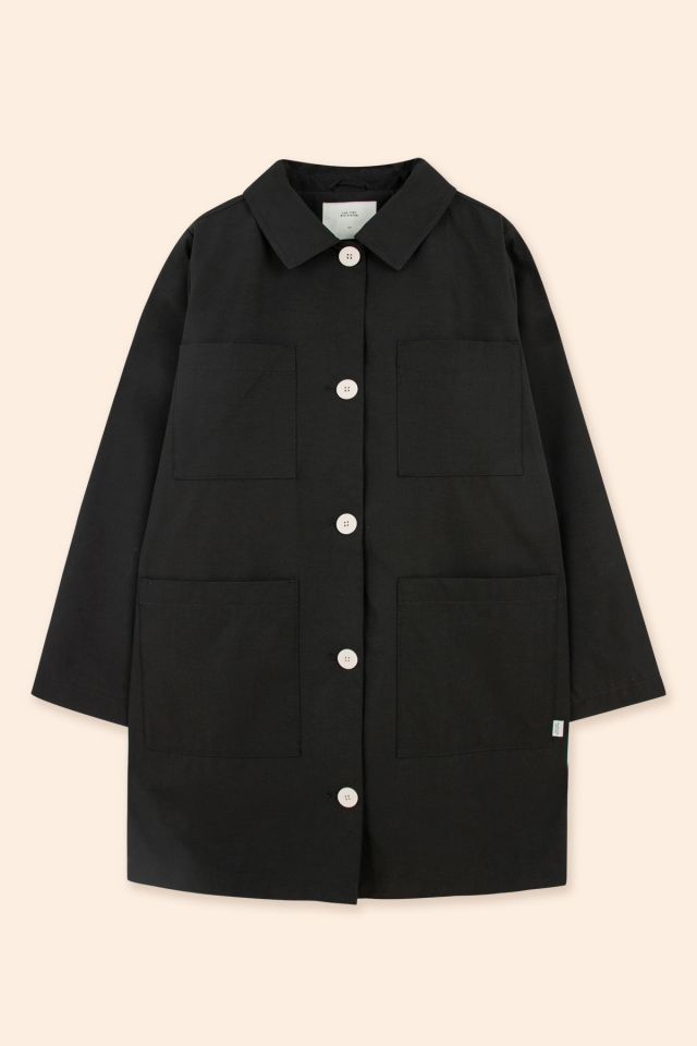 WOMAN SOLID PARKA BLACK