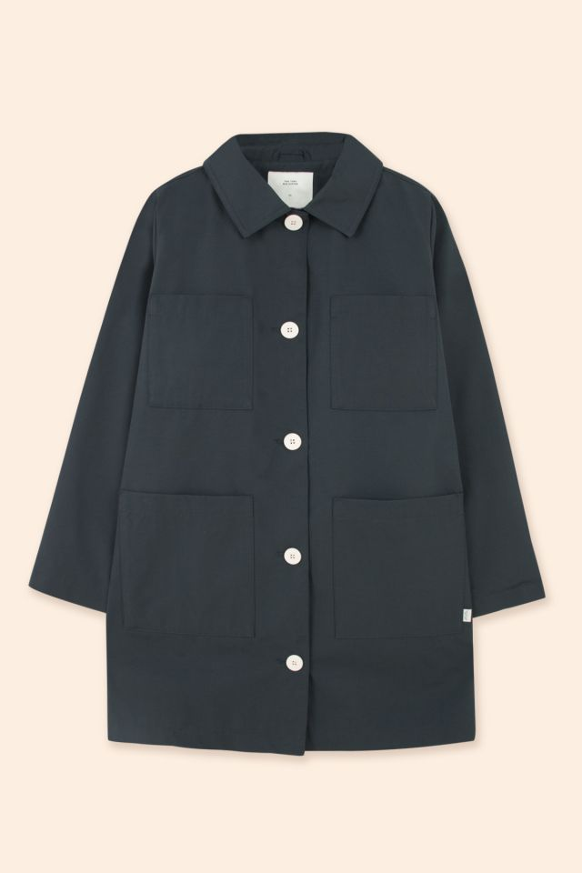 WOMAN SOLID PARKA NAVY