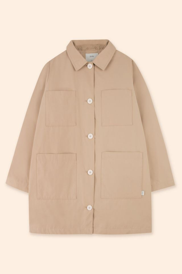 WOMAN SOLID PARKA CAPUCCINO