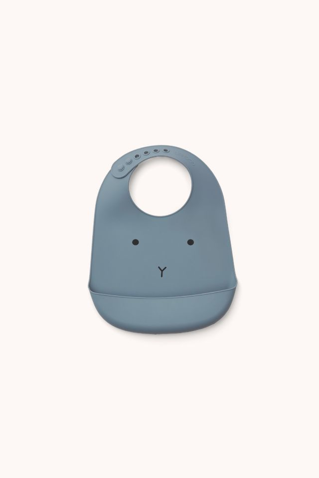 TILDA RABBIT - Silicone Bib 2-pack - Blue wave