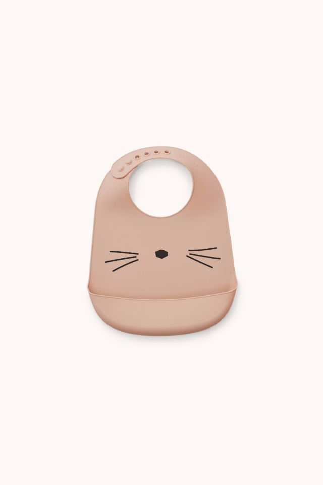 TILDA CAT - Silicone Bib 2-pack - Rose