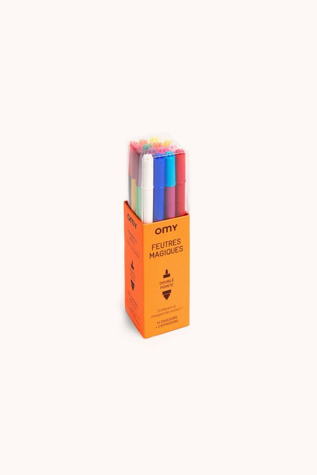 OMY- Box Of 16 Felt Pens Magic