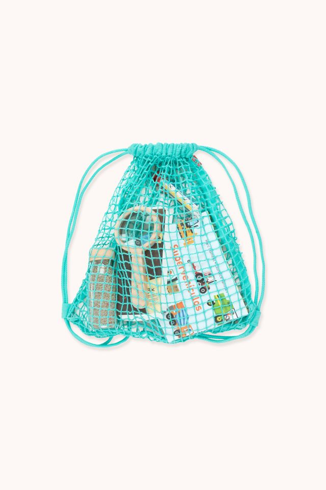 Backpack - Cotton net - Turquoise