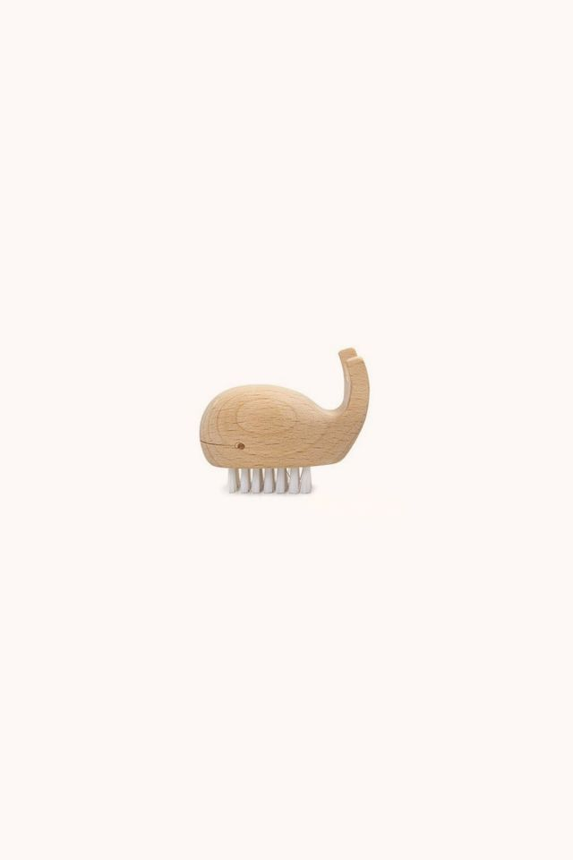 KIKKERLAND - Wooden Whale Nail Brush