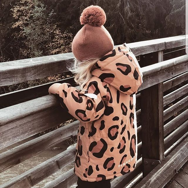 tinycottons animal print snow jacket